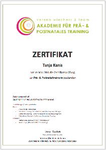 Zertifikat Prä-und-Postnatales Training
