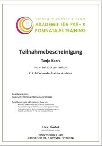 PRÄ- & POSTNATALES TRAINING Teilnahmebescheinigung